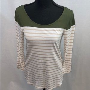 Guess striped rayon top, size small